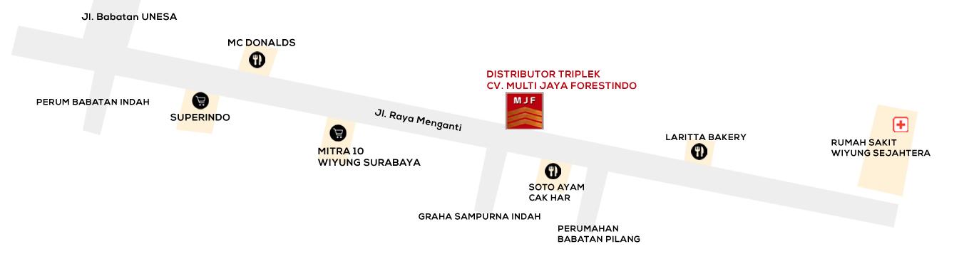 Petunjuk Lokasi CV. Multi Jaya Forestindo